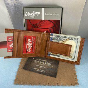 Rawlings Bags - Rawilings Vintage Leather Tan Money Clip Wallet